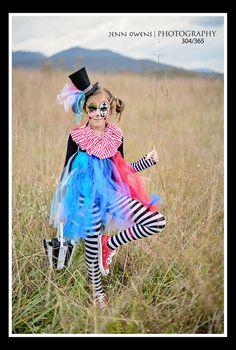 Halloween girls size 7 handmade - CLOWN costume tutu dress #Handmade