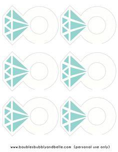 Free Printable Diamond Ring Drink Tags