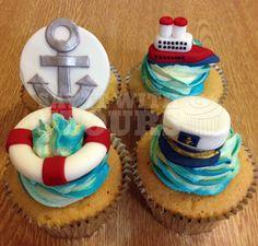 Nautical Cruise Cupcakes