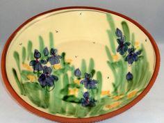 AMAZING VINTAGE Hand Decorated Hand Thrown Lg Platter - STUNNING DETAILS