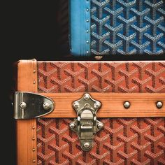 Cool pattern on the goyard trunks