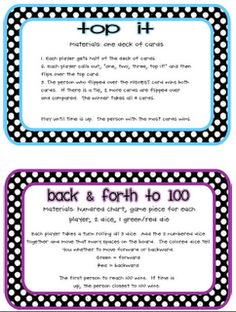 Serenade to Second Grade: Math Games Galore