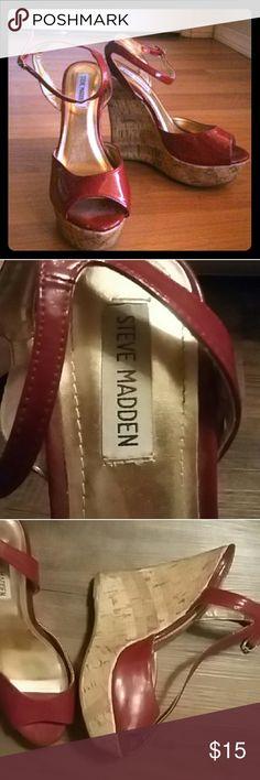 Steve Madden SEXY Red wedge heels Steve Madden SEXY Red wedge heels Steve Madden Shoes Wedges