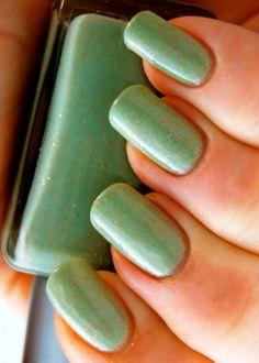 Light-green-nail-polish