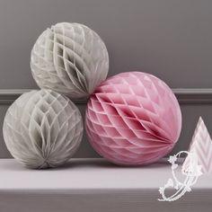 Honeycombs - Set van 3 - grijs & roze
