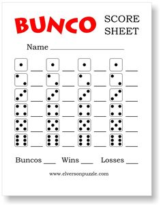 Striking image for cute bunco score sheets printable