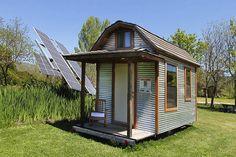 OMG!  I want this.  Solar Powered Barn Style Tumbleweed Epu Tiny House on Wheels
