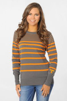 It's sweater weather!! Stay warm in our Tennessee Volunteers Orange and Gray Sweater - University Girls Apparel