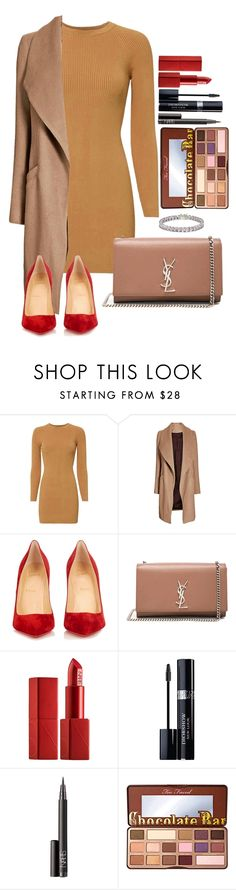 Untitled #1684 by fabianarveloc on Polyvore featuring A.L.C., Christian Louboutin, Yves Saint Laurent, NARS Cosmetics, Christian Dior, Too Faced Cosmetics and Apples & Figs dokuz limited offer,no tax and free shipping.#shoes #womenstyle #heels #womenheels #womenshoes  #fashionheels #redheels #louboutin #louboutinheels #christanlouboutinshoes #louboutinworld