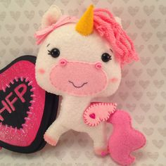 Stuffed Unicorn Plush, Felt Unicorn Plush, Alicorn Stuffed Plushie, Pink Unicorn, Pink Alicorn, Pegasus Stuffed Plush, Felt Plush by HeartFeltPlush on Etsy https://www.etsy.com/listing/227660981/stuffed-unicorn-plush-felt-unicorn-plush