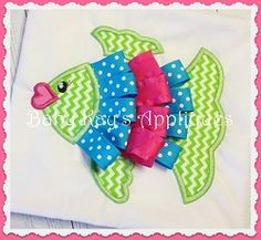 Ribbon Fish Applique - 3 Sizes! | What's New | Machine Embroidery Designs | SWAKembroidery.com Baby Kay's Appliques