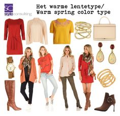 """""""Het warme lentetype/ Warm spring color type."""" By Margriet Roorda-Faber, Style Consulting."""