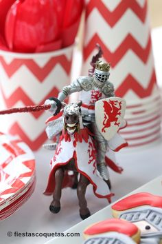 Knight themed birthday party with Such Cute Ideas via Kara's Party Ideas Kara Allen KarasPartyIdeas.com #knightparty #medievalpartyideas #pa...