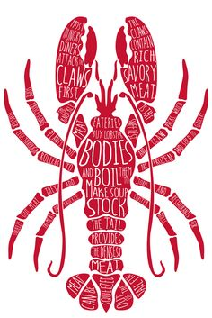 Deconstructing a lobster. Illustration by Maria Jackson.