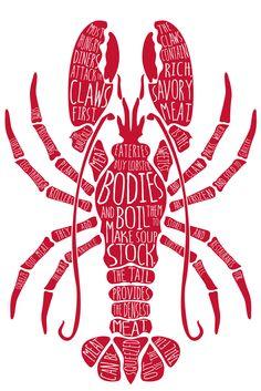 Deconstructing a lobster. Illustration by Maria Jackson.