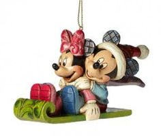 ♥♥♥ 2014. Mickey and Minnie on a Snow Sled ♥♥♥