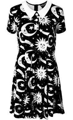 Killstar Goth Occult Gothic Cozmic Death Dress Peter Pan Collar Grunge Babydoll #KillstarClothing #Casual