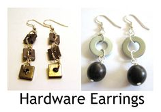 Earrings Every Day Month and Earrings eCourse Day 10:  Hardware Earrings #EEDM #Earrings #JewelryMaking http://kimberliekohler.com/earrings-every-day-month/