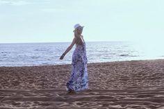 look do dia, ootd, blue beach, outfit, maxi dress, primavera verão 2014, tendências, style statement, chapéus, chapéu panamá, praia, accessó...