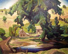 Franklin Carmichael, Canadian Farm, Haliburton, Group of Seven Group Of Seven Artists, Group Of Seven Paintings, Emily Carr, Maurice Denis, Paul Cézanne, Edouard Vuillard, Canadian Painters, Canadian Artists, Paul Gauguin