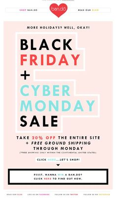 Black Friday & Cyber Monday from ban.do