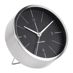 Černo-šedý budík Karlsson Normann, Ø 10 cm Retro Stil, Montage, Alarm Clock, Norman, Home Accessories, Elegant, Design, Furniture, Home Decor