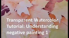 """""""Autumn in the trees"""" Narrated Step by Step Negative Painting Tutorial - YouTube"""