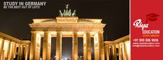 Abroad Education in Germany - Be the best out of lot!!! Students who wish to study in Germany get in touch with Riya Education, Overseas education consultant.  #whystudyinGermany