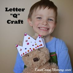 Alphabet Craft - Letter Q (Queen's Crown with printable template)