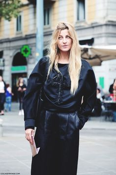 Milan_Fashion_Week_Spring_Summer_15-MFW-Street_Style-Ada_kokosar-Black-Just_Cavali-