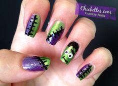 Halloween Frankie Nails