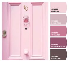 Paint colors from ColorSnap by Sherwin-Williams Room Colors, Wall Colors, Paint Colors, Purple Dresser, Color Combinations, Color Schemes, Sherwin William Paint, Color Psychology, Sweet Home