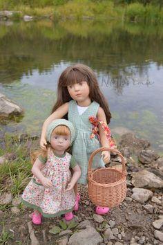 Француженка в провинции. Куклы Sylvia Natterer finouche от Petitcollin и minouche от Kathe Kruse. / Другие интересные игровые куклы для девочек / Бэйбики. Куклы фото. Одежда для кукол