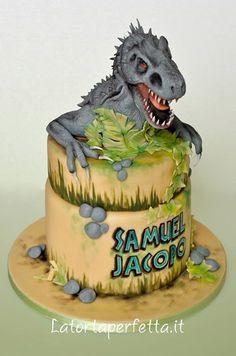 jurassic world edible image T Rex Cake, Dino Cake, Dinosaur Birthday Cakes, Dinosaur Party, Park Birthday, Boy Birthday, Dinotrux Cake, The Good Dinosaur Cake, Jurassic World Cake