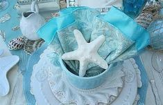 Coastal Colors, End Of Summer, Summer Blues, Creative Wedding Ideas, Under The Sea Party, Stage Decorations, Christmas Tea, Flower Backdrop, Sea Theme