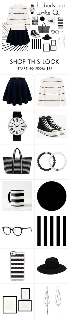 """""""its black and white"""" by hermione-2003 on Polyvore featuring L.K.Bennett, Rosendahl, Converse, B Brian Atwood, Lokai, Wall Pops!, Kate Spade, Tempaper, Casetify and Off-White"""