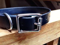 DTB Mutt Tie Leather Dog Collar by DTBros on Etsy
