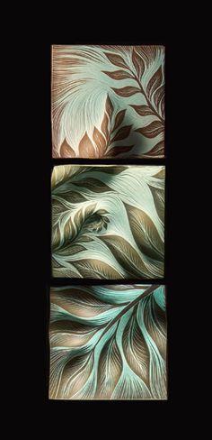 Handmade, ceramic wall tiles