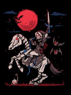 Legend of Zelda Breath of the Wild > Dark Link on Stalhorse - The Blood Moon Rises > Shower Curtain The Legend Of Zelda, Legend Of Zelda Breath, Breath Of The Wild, Gaming, Moon Rise, Twilight Princess, Princess Zelda, Blood Moon, Halloween Cosplay