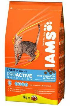 IAMS Adult Cat Fish & Chicken, 10 kg - Petenkoiratarvike.com verkkokaupasta 57,90 (saa olla myös pienempi säkki)