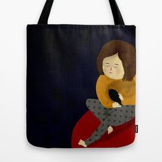 Me and my bird Tote Bag by Eszter Schall - $22.00