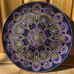167 отметок «Нравится», 9 комментариев — ТОЧЕЧНАЯ РОСПИСЬ И ДЕКОР (@ana_artstudio) в Instagram: «Не выкладывала тарелочки уже неделю, а тем временем поднакопилось)) вот вам одна из красавиц, по…» Mandala Painting, Dot Painting, Mandala Art, Mandala Pattern, Mandala Design, Lace Art, Mandala Rocks, Embroidery Motifs, Color Effect