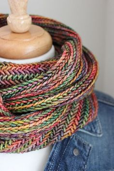 Big Herringbone Cowl by Purl Soho | malabrigo Rios in Diana