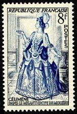 República Francesa. Año: 1953. Tema: Evocación al Teatro Serie: Teatro francés. Célimene en el teatro. Autor: Moliére.