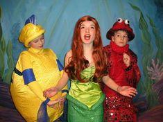 Flounder, Ariel, Sebastian costumes