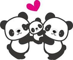 Familia Panda Wallpapers, Cute Wallpapers, Cute Animal Drawings, Cute Drawings, Panda Kawaii, Panda Family, Panda Drawing, Cute Panda Wallpaper, Panda Birthday