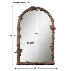 Paza Arch Mirror | Uttermost Uttermost Mirrors, Arch Mirror, Forest View, Animal House, Log Homes, Gold Leaf, Antique Gold, 3 D, Antiques