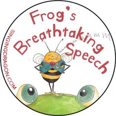 This new badge is based on 'Frog's Breathtaking Speech' - the new children's book by Michael Chissick, a teacher and yoga instructor who specialises in teaching yoga to young people on the Autism Spectrum. Click to see more breathtaking images by illustrator Sarah Peacock!