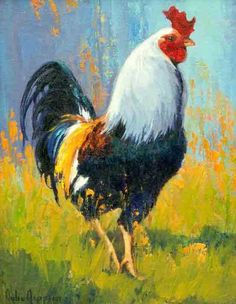 Roosters, Chickens and Other Domestic Animal Paintings by Julie Jeppsen 9