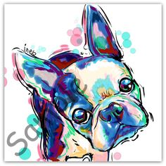 All my paintings are painted on my computer. They are painted in high resolution so it can be printed without it being distorted. All prints up to 11x11 will have the option to be mounted and shipped out flat. Any prints larger will need to be shipped rolled and not mounted. WILL THIS LOOK LIKE YOUR PET WITH A LITTLE TWEAKING? CLICK HERE https://www.etsy.com/listing/255153034/tweak?ref=shop_home_active_16 IF YOU ARE LOOKING FOR A CUSTOM PET PORTRAIT HERE IS THE...